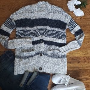 Abercrombie & Fitch Stripped Cardigan
